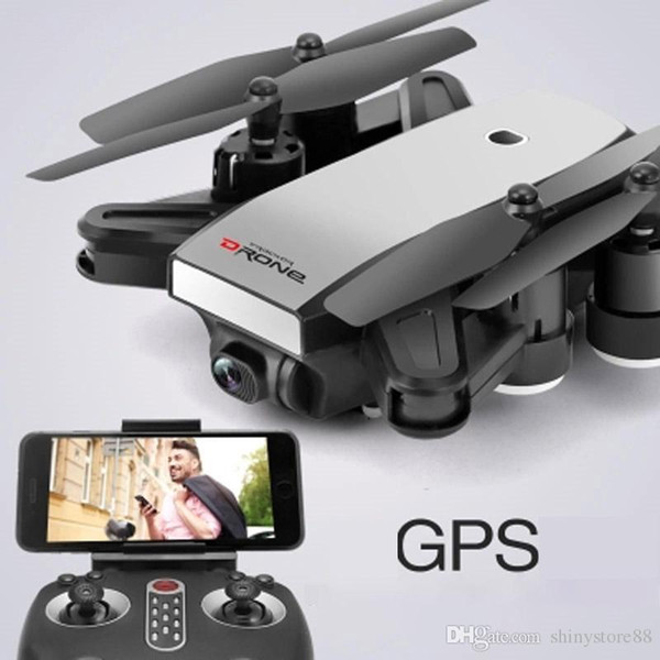Mini S9 Folden GPS Drone 2.4G 4-Axis Remote Control RC Helicopter Drone With 2MP/5MP Wifi HD Camera Drones GPS aircraft