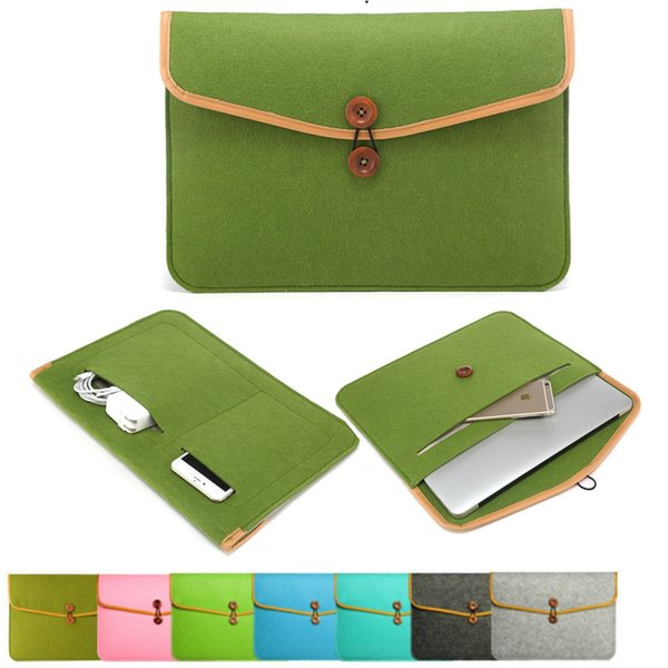 High quality felt tablet Computer bag Protector mobile phone power cord Ipad storage bag 7 colors 11-15.5 in.