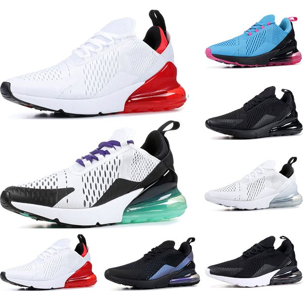 f86553e2a80548 nike air max 270 Дешевые кроссовки для мужчин женщин тройной черный белый  есть день South Beach Throwback Future Hot Punch спортивные кроссовки  кроссовки ...