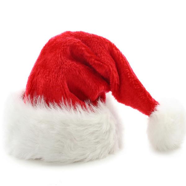 New adult christmas red decorations hats santa claus hat christmas cap cap bonnet noel New Year Decoration