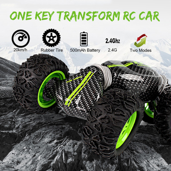 RC Car Toys for Children One Key Transform RC Stunt Cars 2.4G 4WD All-terrain Vehicle Crawler for Kids Adults