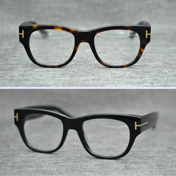 Retro Square Eyeglasses for Man Fashion Black Brand Designer Spectacle Frames Luxury Vintage Transparen Glasses Frame Men Women