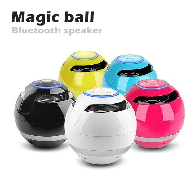 2019 Großhandel Magic Ball Wireless tragbare Bluetooth-Lautsprecher mit Subwoofer Mini-Runde HiFi-Lautsprecher Indoor Outdoor für iPhone iPad DHL