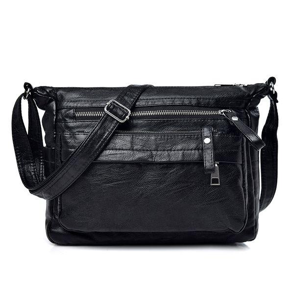 Vintage Designer Small Crossbody Bags Pu Leather Bag Handbag Sac A Main Femme Ladies Messenger Bag Long Strap Female Clutch