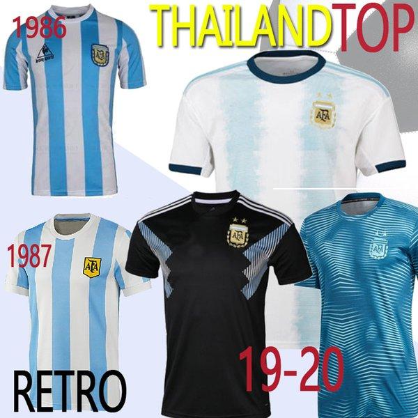 Thailand Retro Version 1986 Argentinien Home Trikot Maradona Caniggia 1978 Qualitäts Fußball-Hemd Batistuta