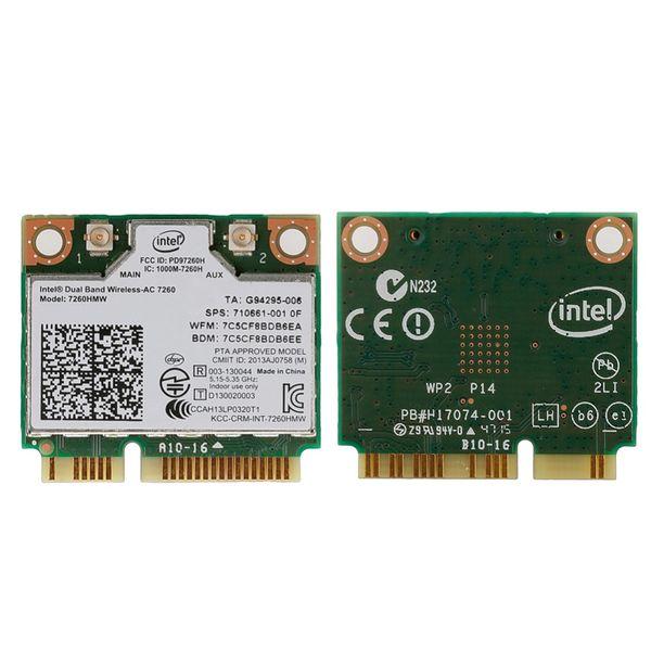 Dual Band Wireless-AC 7260HMW Mini PCI-E BT4.0 Card Intel For HP SPS 710661-001