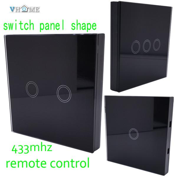 Vhome Wireless Rf 433mhz Launcher Noir Interrupteur Forme Télécommande Tactile Télécommande Pour Interrupteur Tactile, Porte De Garage, Rideaux électriques J190523