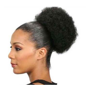 Cross Border Africa Afro Puff Hair Bun Wild-curl Up Chignons Fleeciness Small Volume Hair Extensions Caterpillar Hair Products HA129