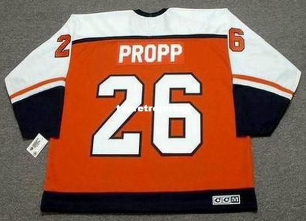 Maillot de Hockey en gros BRIAN PROPP Mens Flyers de Philadelphie 1985 CCM
