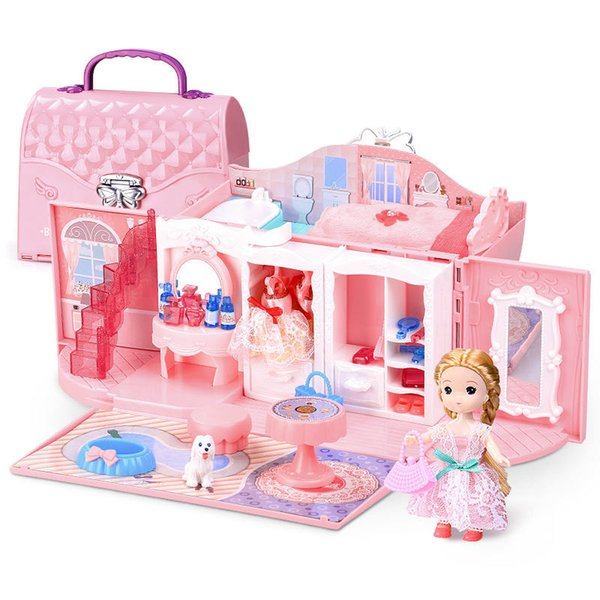 2019 Childrens Girls Toys Kitchen Kids Toys Girls Dreams Play House  Princess Handbag Toys Bedroom Bag House Child Play Birthday Gifts From  Dage1996, ...