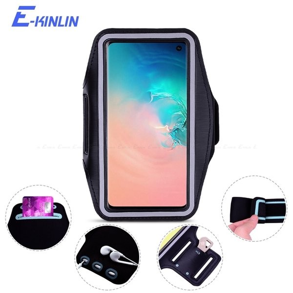 Arm Band Cover Case For Samsung Galaxy S10e S10 S9 S8 S7 S6 Edge Plus Active Note 9 8 5 Sport Running Gym Phone Holder Bag Pouch C19041301
