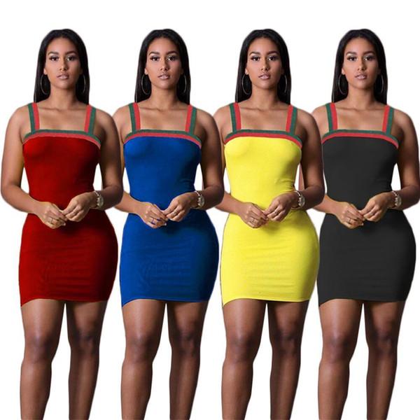 YX9081 Sexy mulheres correias cor sólida Dressor