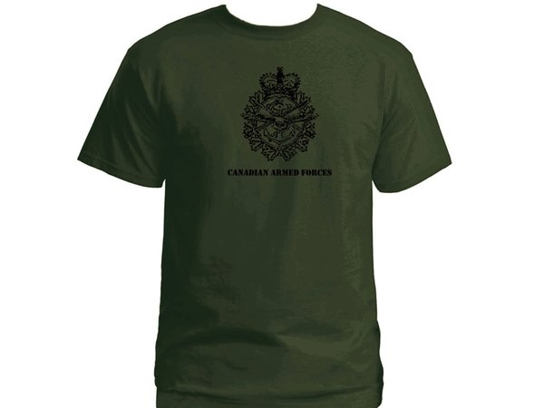 Canadian armed forces emblem olive green new t-shirt Funny free shipping Unisex
