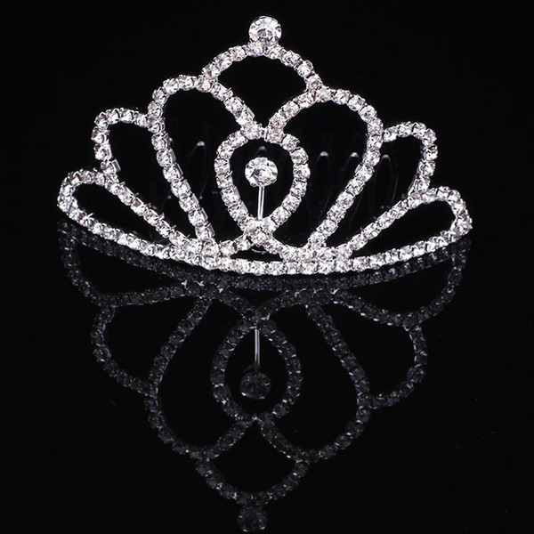 Girls Tiaras Wtih Rhinestones Crystals Hair Accessories Evening Prom Party Performance Pageant Tiaras Crowns For Little Girls DB-T061