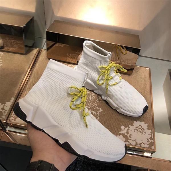 NEW HOT Socks Scarpe firmate Speed Trainers Race Runners Nero Rosso Triplo Nero Bianco Flat Uomo e donna Moda Sport Stivali Sneakers 35-46