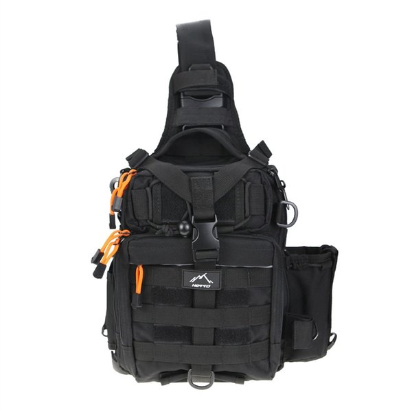 Hetto Tactical Sling Bag Chest Pack MOLLE Nylon 1000D Waterproof Crossbody Backpack Military Shoulder Bag for Outdoor, Day Use #108437