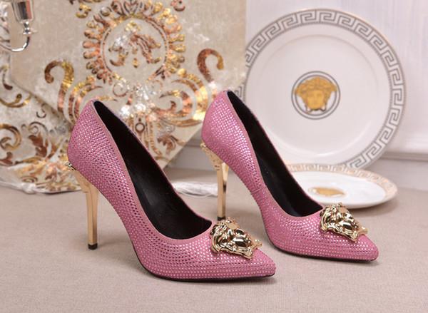 2019 chaussures de créateurs de mode pour femmes chaussures de créateurs talons hauts talons chaussures femmes taille 4.5-9.5 -109