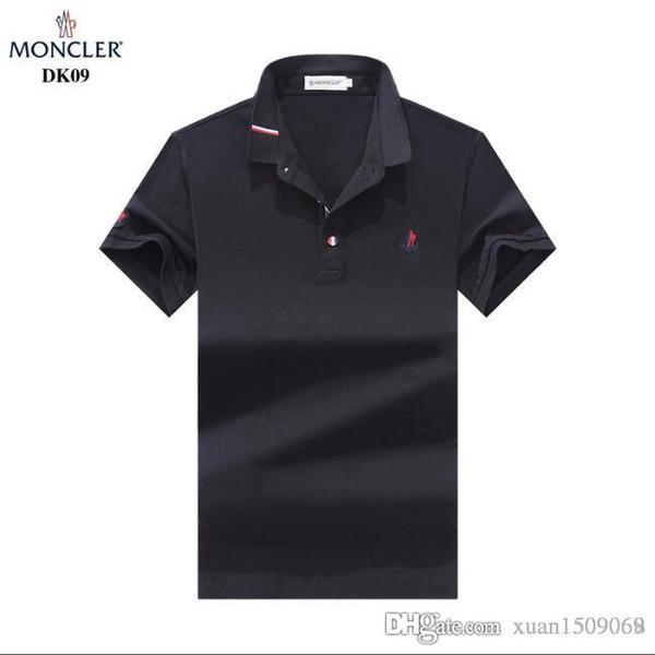 Men's pure cotton short-sleeved T-shirt, lapel polo shirt, fashion Korean T-shirt and undershirt