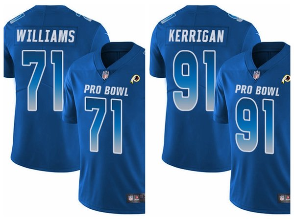 new products 0cca0 b56da Washington Men'S Youth Women'S Trent Williams Ryan Kerrigan Limited  Football Jersey Redskins Royal Blue NFC 2019 Pro Bowl Mens Blazers Mens  Clothes ...