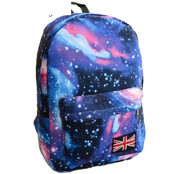 good quality New Multicolor Women Canvas Backpack Stylish Galaxy Star Universe Space Backpack Unisex School Back Bag 4 Color Rucksack