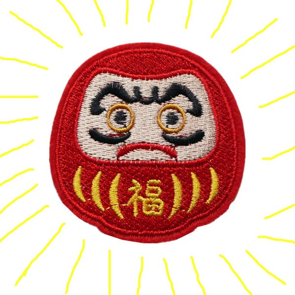 Embroidered Patch Japan Lucky Mascot Fu Sew Iron On Soldier Embroidery Patches Badges For Bag Jeans Hat T Shirt DIY Appliques Craft Decor