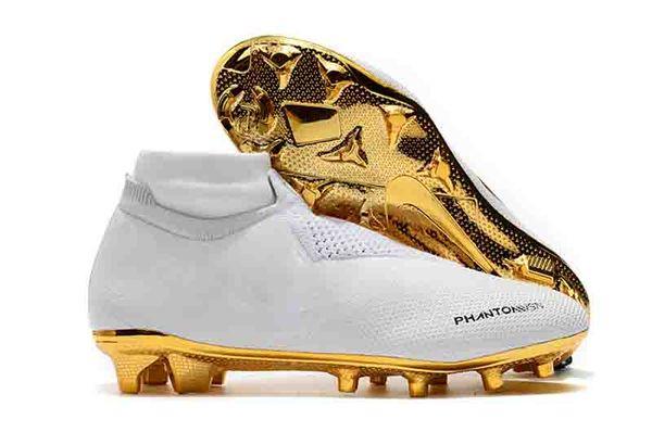 2019 new arrival GOLD mens soccer shoes Phantom VSN Elite DF SG-Pro Anti Clog soccer cleats Phantom Vision football boots scarpe calcio hot