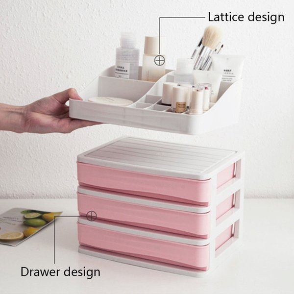 Multi-layer Plastic Storage Box Cosmetic Drawer Makeup Organizer Desktop Jewelry Sundry Storage Case Container Holder