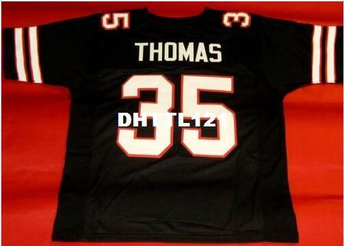 best selling Men CUSTOM #35 ZACH THOMAS CUSTOM TEXAS TECH College Jersey size s-4XL or custom any name or number jersey