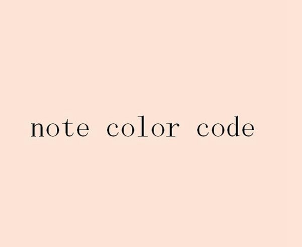 note color code