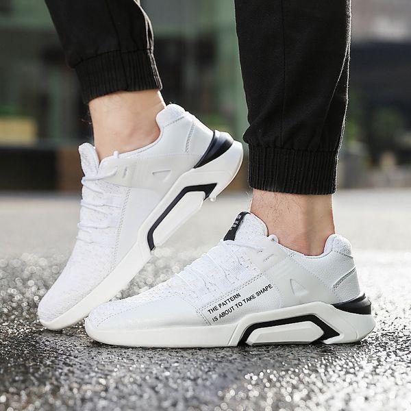 Yaz 2019 Kore versiyonu yeni patlayıcı örgü erkek ayakkabı sneakers nefes artış erkek eğlence uçan örgü spor ayakkabı