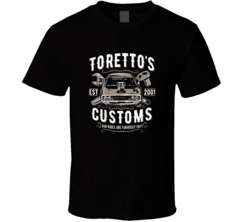 2018 New Fashion Brand Clothing Design Tee Shirt Fast And Furious T Shirt Toretto Tee Car T Men Tops Tees