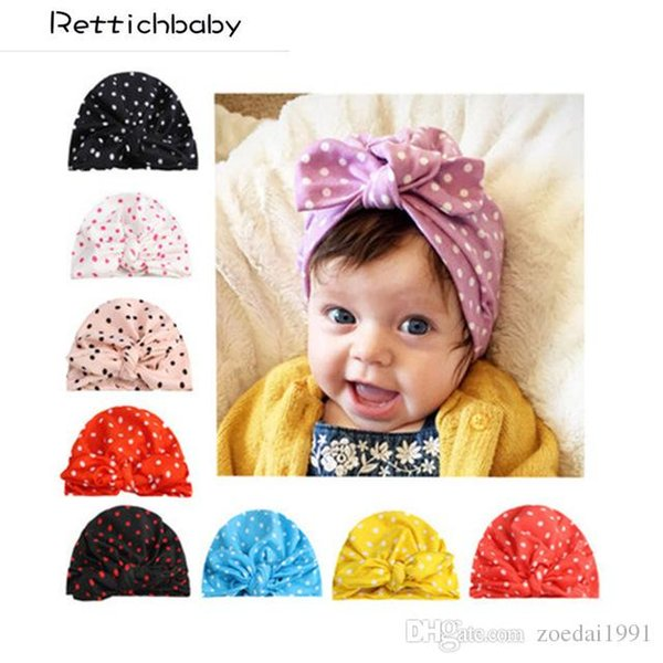 Baby Hat Headband For Girls Boys Rabbit Ears Bow Tie Kids Headwear Indian Cap Photography Props