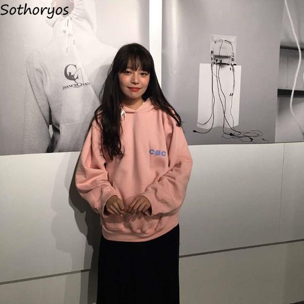 Толстовки женские с капюшоном с печатным рисунком и толстыми плюс бархатные теплые карманы Досуг пуловеры женские Kawaii универсальные кофты Chic