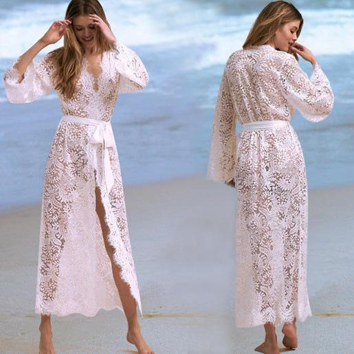 Swim Suit Cover Up For Women Summer Tunic Beach Mat Bath Clothes Long Dress Sundress Bathing New Lace Smock Hollow Sexy Animal