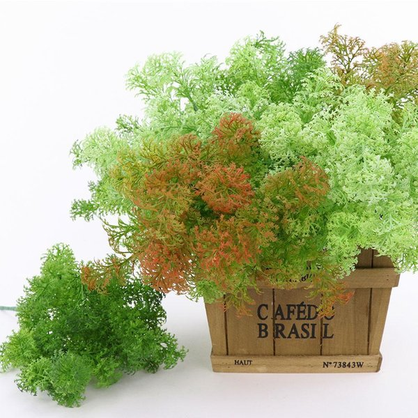 1pc Artificial Plastic Moss Grass Plant Tree Home Office Party Furniture Decoration C19041302