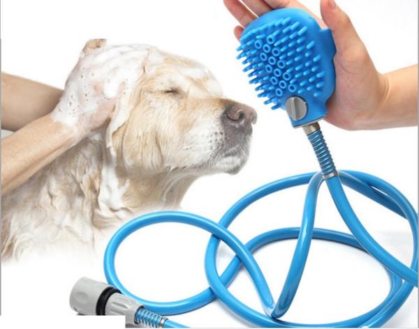 Kit de douche pour animaux de compagnie avec brosse   Pulvérisateur de douche pour chien, Gant de bain réglable, Propre, Massage Supprimer les cheveux   Douche ... Buse de massage