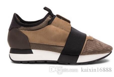 Neue beiläufige Schuh-Mode-Designer Low Cut Leder Mesh-Trainer Billig-Turnschuh-Mann-Frauen-Rennen Runner Schuhe Flache