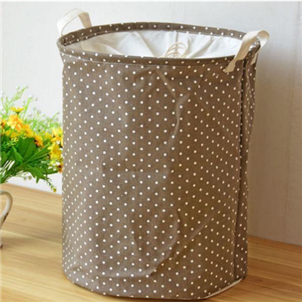 Lovely Point Basket For Toys 35*45CM Linen Laundry Basket Folding Dirty Clothes Storage Storage Basket ZJ0684