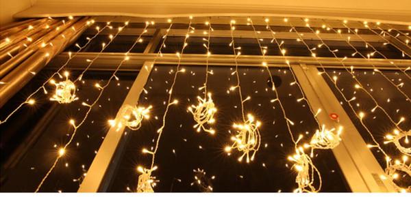 12MX2.5M 1200LED fairy string icicle led curtain light bulbs Xmas Christmas Wedding garden party decor AC110V-220V