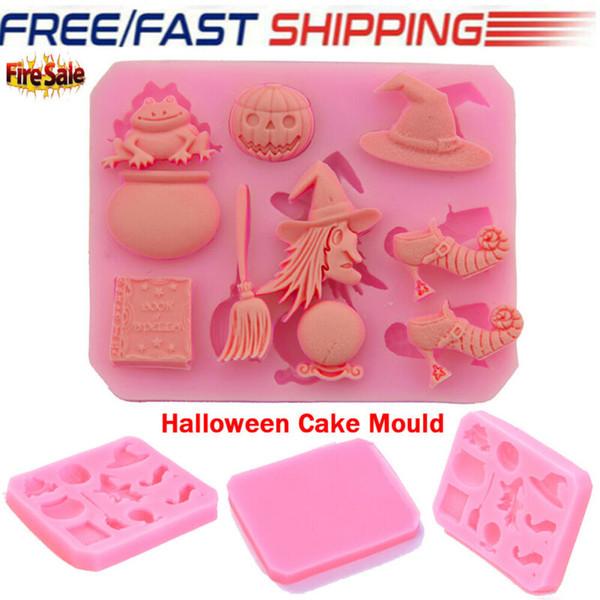 Stampo per fondente in silicone a forma di Halloween Strumento per la cottura della torta al cioccolato fai-da-te