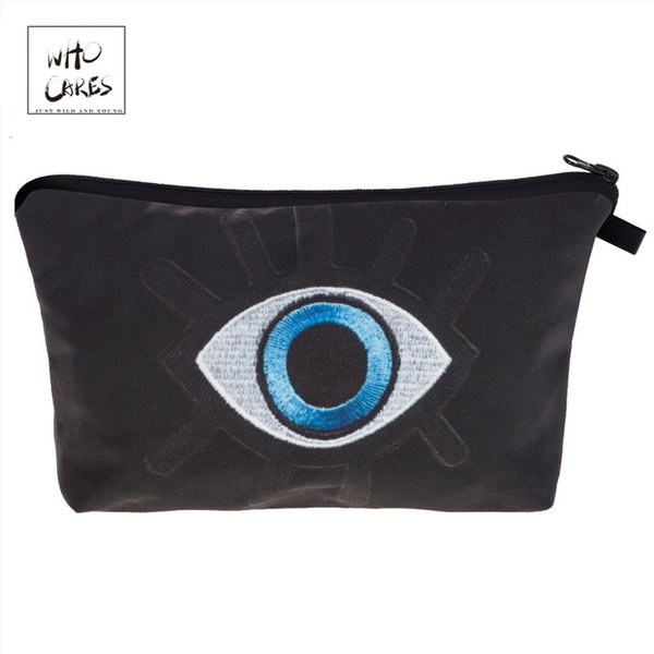 Who Cares Fashion printing big eyes Makeup Bags Cosmetics Pouchs For Travel Ladies Pouch Women Cosmetic