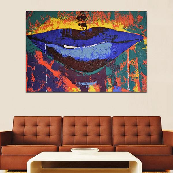 Acheter Bleu Bouche Mur Art Photos Art Abstrait Toile Peinture Pour Le Salon Posters Imprimer Aquarelle Photos Pas Encadré De 25 62 Du Jonemark2014