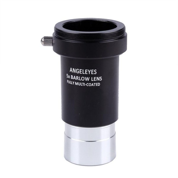 "1.25"" 5X Barlow Lens All Metal HD 3 with M42 Thread for 31.7mm Astronomical Telescope Monoculars Eyepiece Accessories"