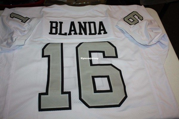 differently 59469 f535a 2019 Cheap Retro GEORGE BLANDA #16 CUSTOM STYLE MITCHELL & NESS Jersey  White Stitching Men'S Football Jerseys College NCAA From Hyncaajersey,  $20.72 | ...