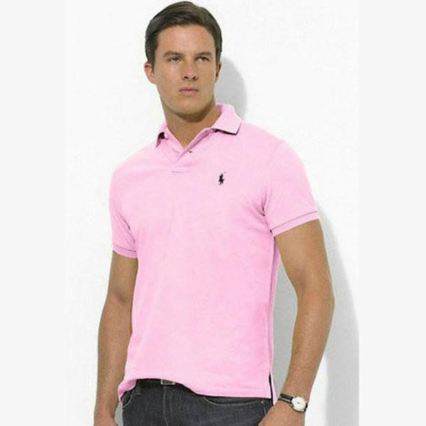 2019 Beste qualität neue marke stickerei große pony T-shirt mode polo shirt männer polo tees größe S-3XL
