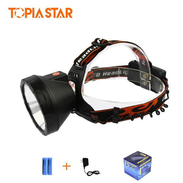 TOPIA STAR High Power Stirnlaternen Wiederaufladbare Cree Xml T6 5000 LM Miners Light Led Scheinwerfer