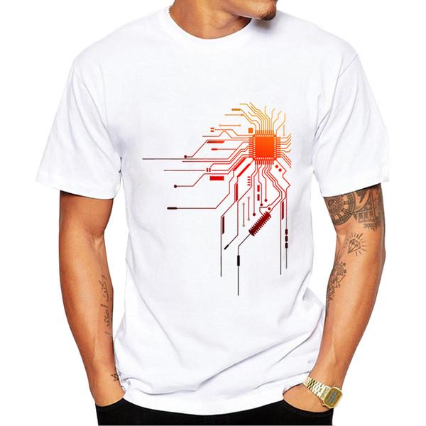 2019 Computer Cpu Core Herz T-shirt Männer Geek Nerd Freak Hacker Pc Gamer T Sommer Kurzarm T-shirt Asiatische Größe