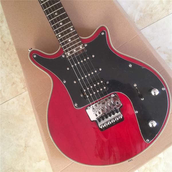 Guild Brian May vino Red Guitar Black Pickguard 3 pickup Tremolo Bridge 24 tasti Chitarre elettriche su misura