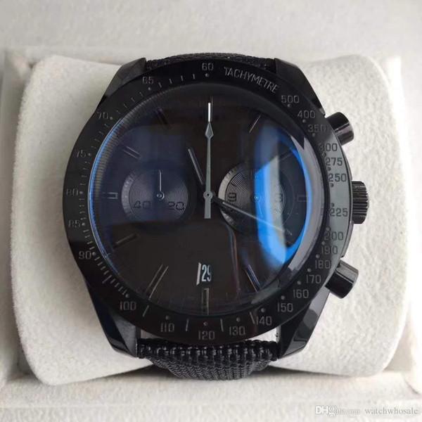 2019 Vente chaude Montre SUPER Série SEA Montre cadran noir 44MM multifonctions Timing qualité Sapphire Miroir original boucle déployante Automa