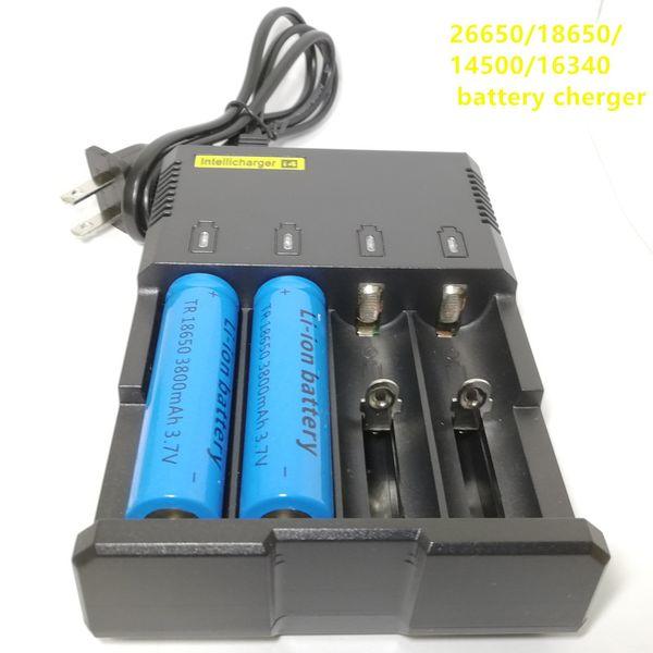 26650/18650/14500/16340 4 yuvalı Li iyon batarya şarj pil şarj i-4 Yüksek kaliteli